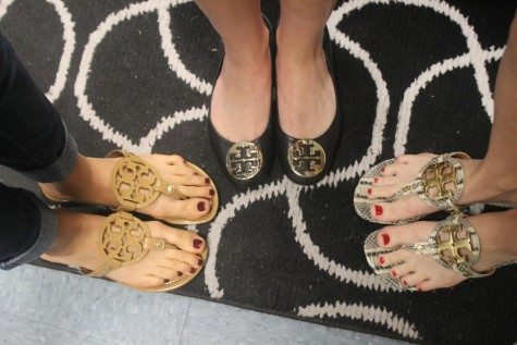 It is inevitable to see these Tory Burch sandals in the hallways at Robinson.