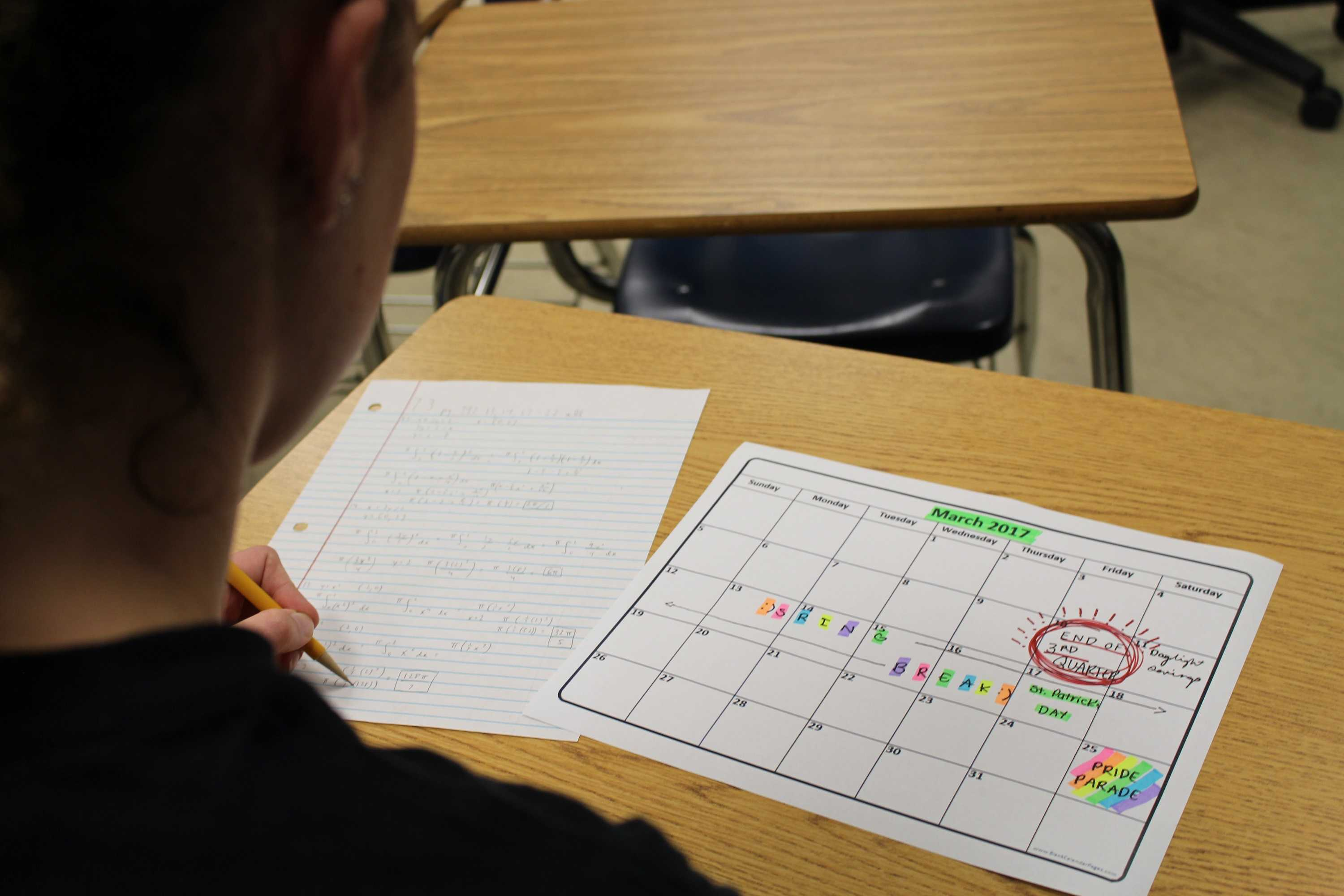 Deadlines loom for students as the third nine weeks ends on March 9.