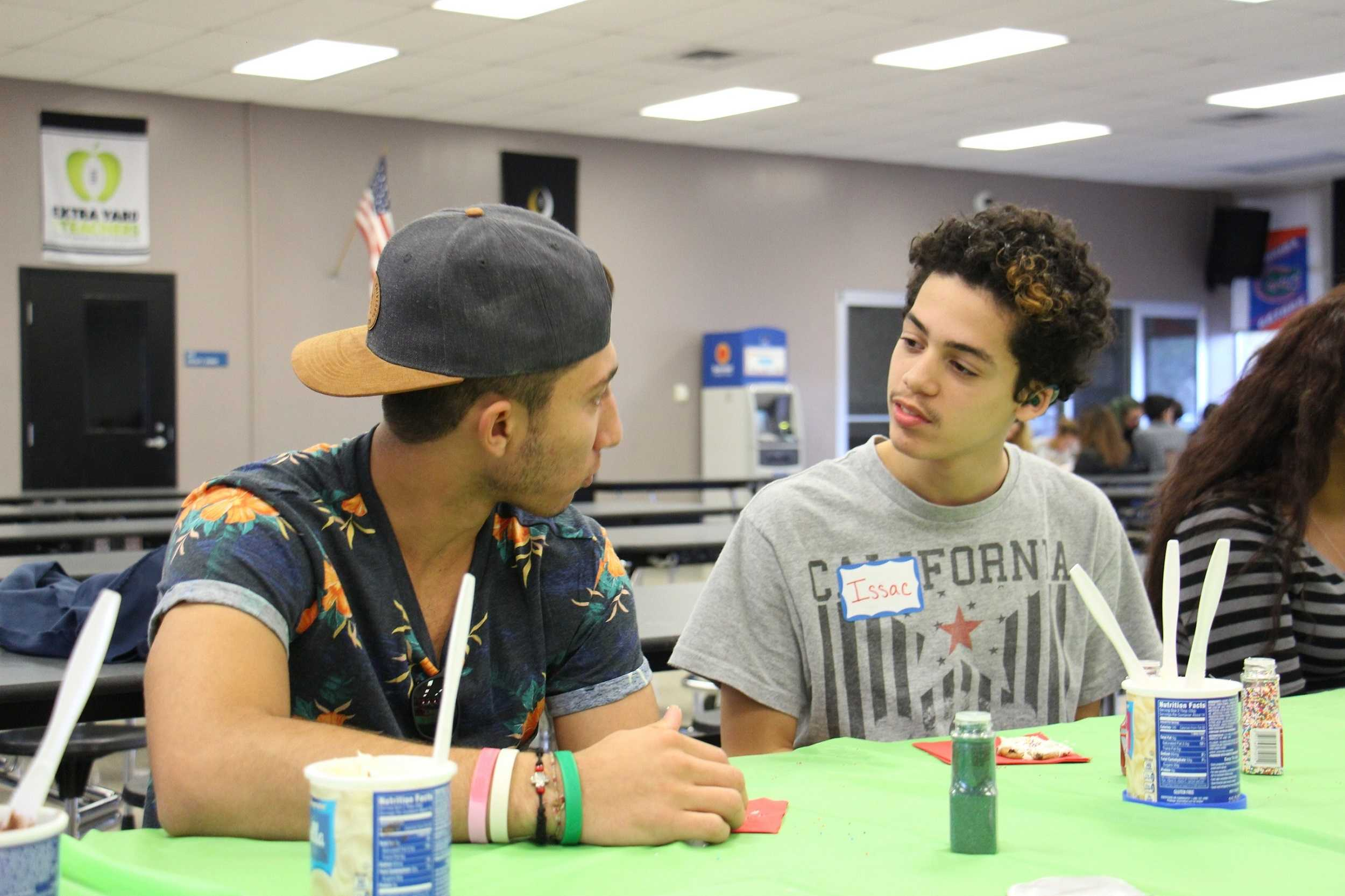 Joey Scionti ('17) participates in Best Buddies' Christmas Party.