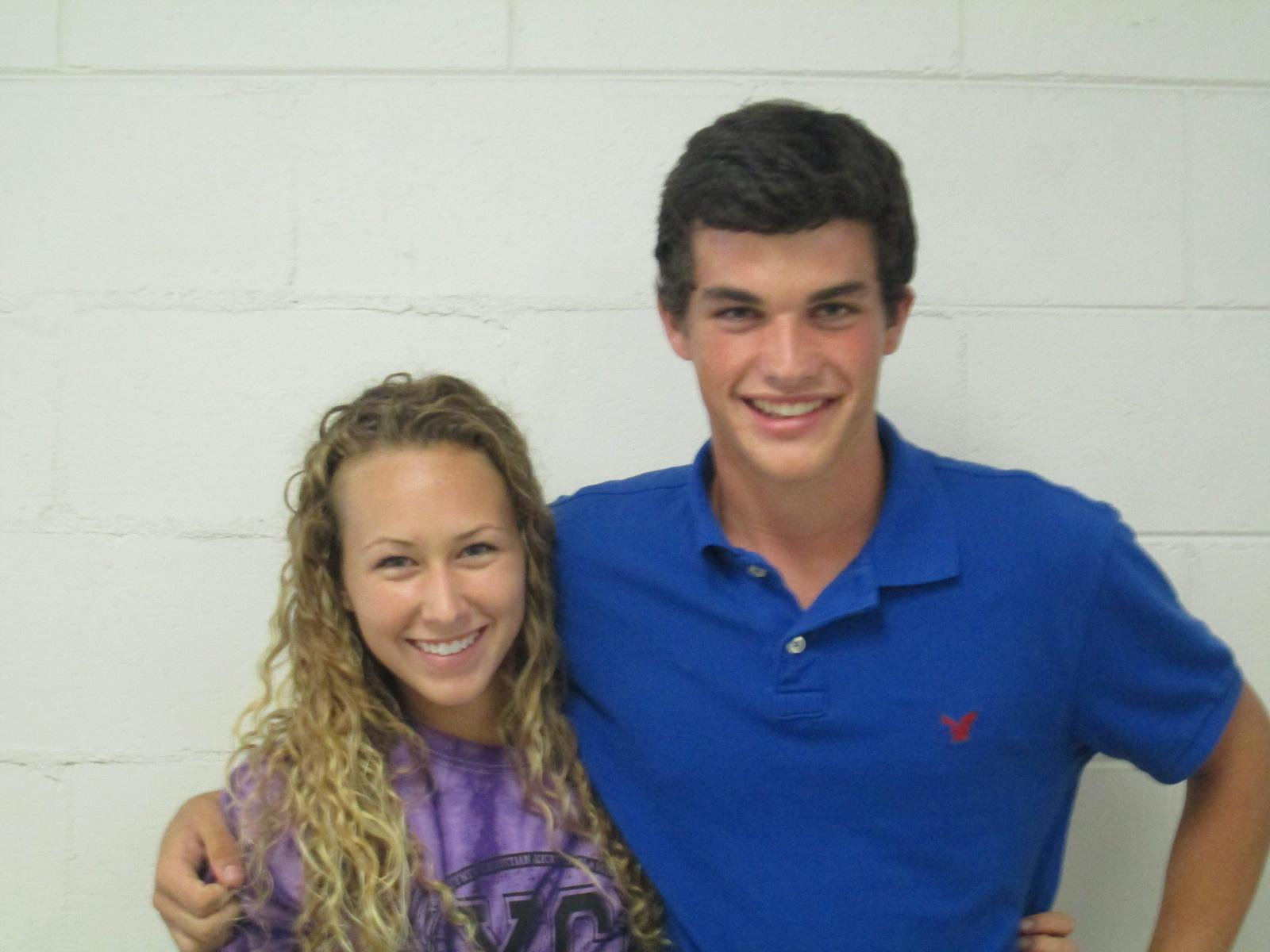 Julia Deyoung and Dylan Jurski were the top runners at Cross Country's season kickoff on September 8, 2012.
