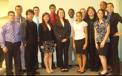 Members of FBLA after their District Competition held at Freedom High School on February 5, 2013.