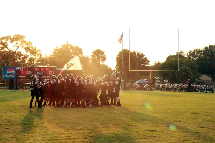 RHS+Varsity+Football+players+huddle+up+pre-game.+Robinson+is+scheduled+to+play+in+10+varsity+football+games+this+season%2C+along+with+their+pre-+season+kickoff+game+against+Osceola.+8+games+are+district+games+and+2%2C+including+the+Sickles+game%2C+are+non-district.+