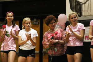 Alexandra and Lauren Peterson played in honor of their English teacher Barbara Verde.