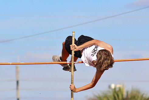 Junior+Sean+McGlone+competes+in+only+his+second+pole+vault+competition+of+the+season.+Even+though+he+had+been+vaulting+for+a+short+time%2C+McGlone+won+with+a+vault+of+10-09.00.