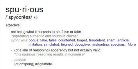 Wednesday Word Day- Spurious 5.14.14