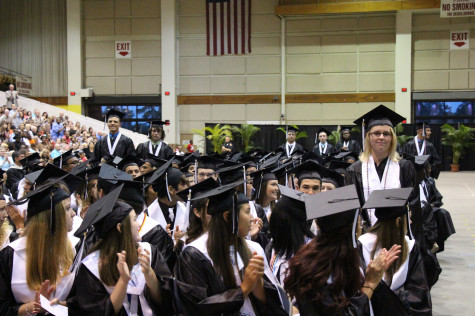 In the past, students at graduation were able to sit in proximity without masks.