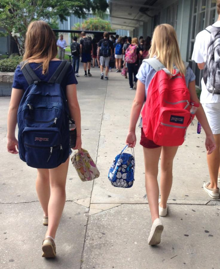 Jansport backpacks and Vera Badley lunch boxes continue to be a big trend this school year.