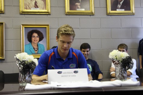 Rogers signing with the University of Florida. His major is currently undecided.