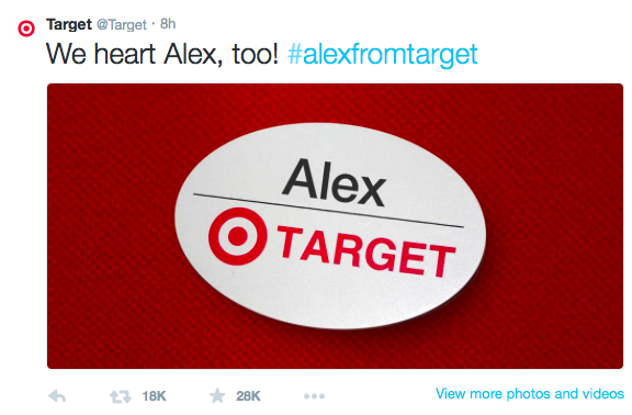 #AlexFromTarget Hits the Web