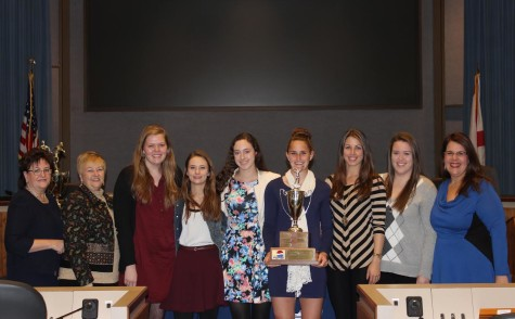 Volleyball, Boys Golf Honored at School Board