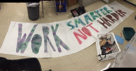 Abram Scharf ('16) spray painted this poster to surprise Jill Burns when she returned to school.