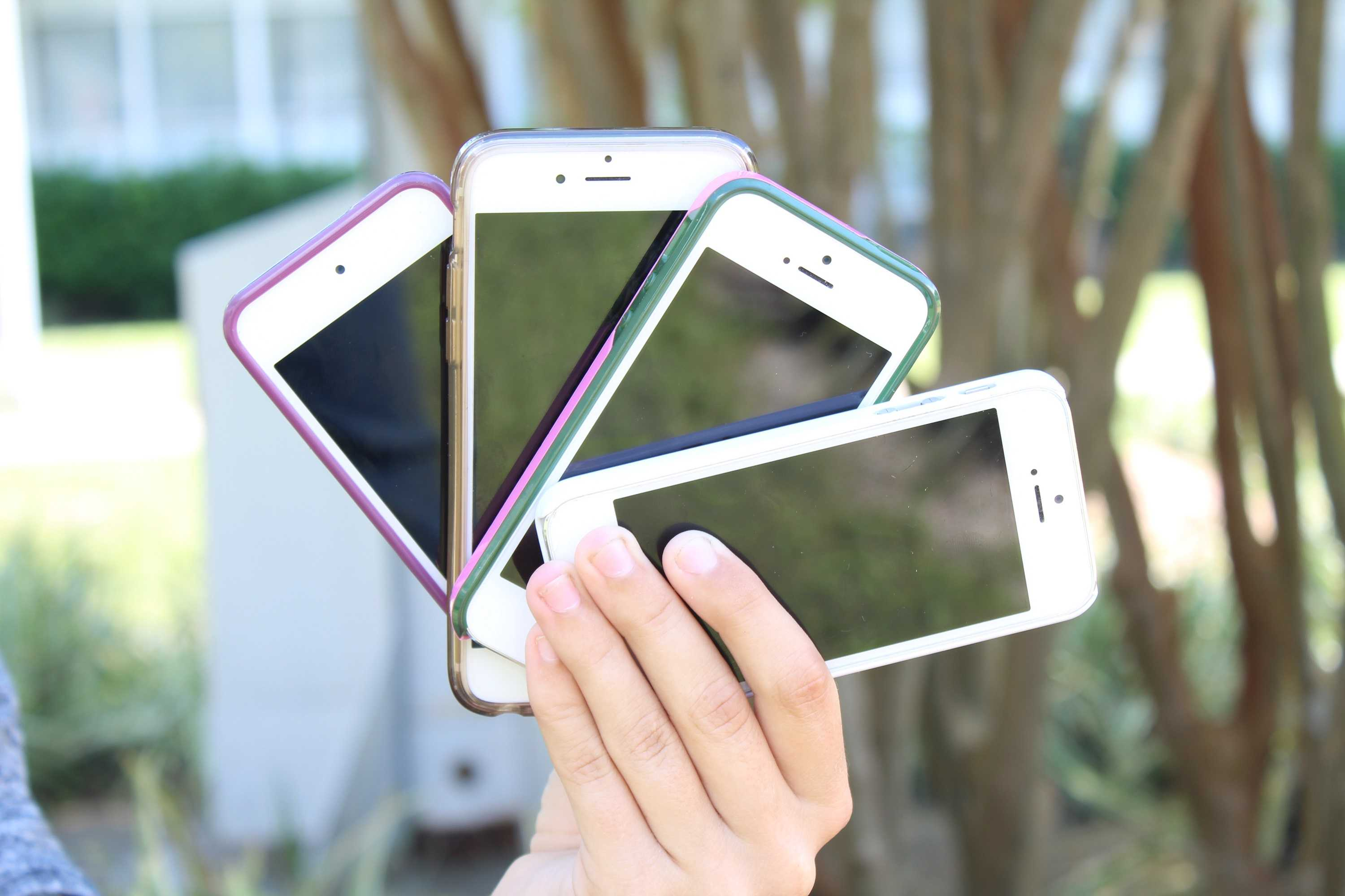 iPhones are a popular phone choice for students.