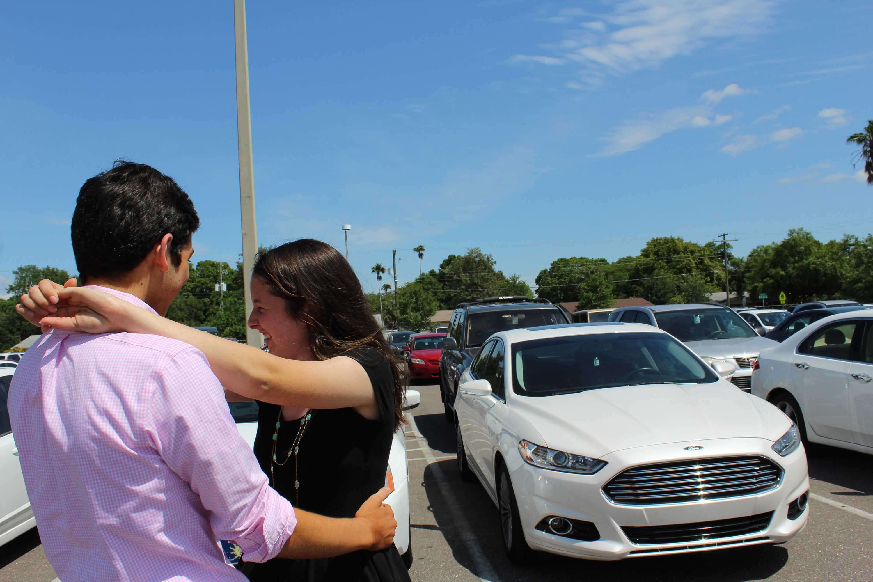 Student government hopes to utilize parked cars as spots for food and weary dancers.