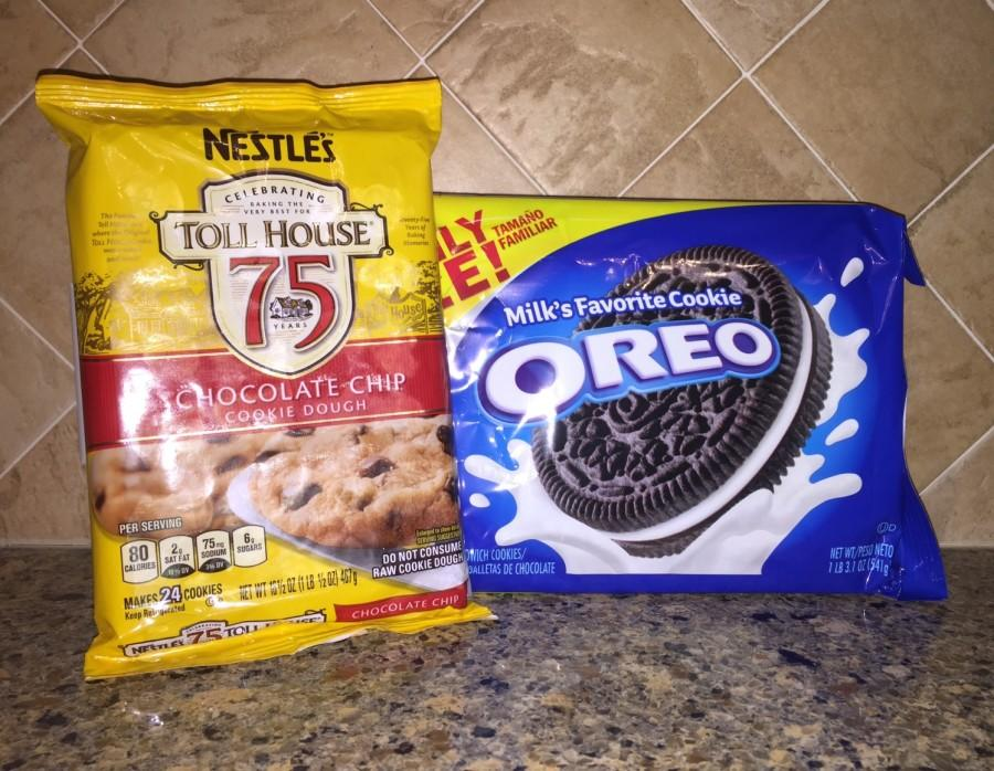 Mixing chocolate chip cookies and Oreos never fails to make a great treat.