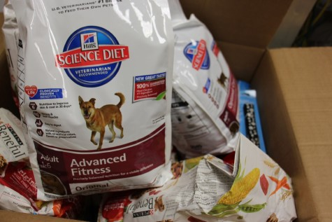 NHS is collecting many supplies for the Humane Society, including dog food.