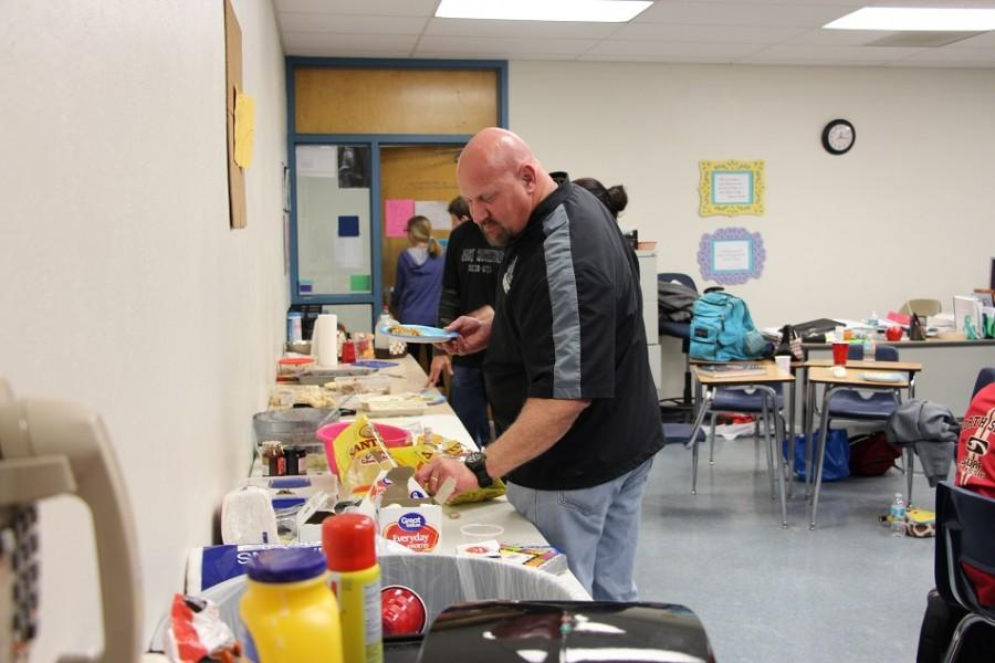 Social Studies teacher, Tom Dusold also benefits from the Culture Day.