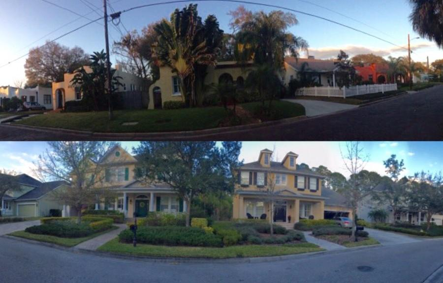South Tampa (above) compared to Westchase (below).