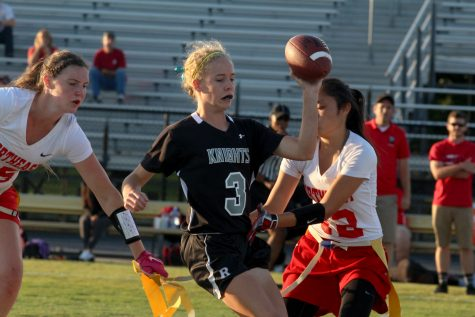 Emily Draper ('17) added two touchdowns in the Knights' 32-0 shutout over Northeast.