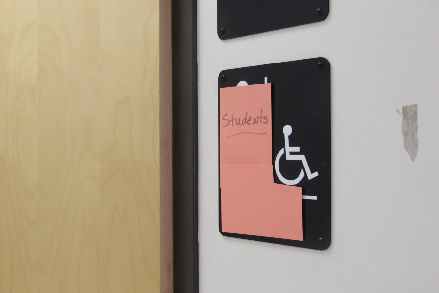 Robinson now has two gender-neutral bathrooms: one in the clinic (pictured) and one in the library.