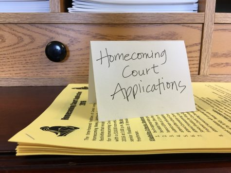 Homecoming Court applications are available in the Guidance Office and due Wednesday, Sept. 28.