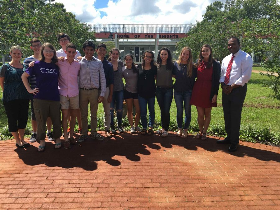 Robinson%27s+National+Merit+Semifinalists+and+National+Hispanic+Recognition+students+stand+with+IB+Guidance+Counselor+Henderika+George+and+Principal+Robert+Bhoolai.