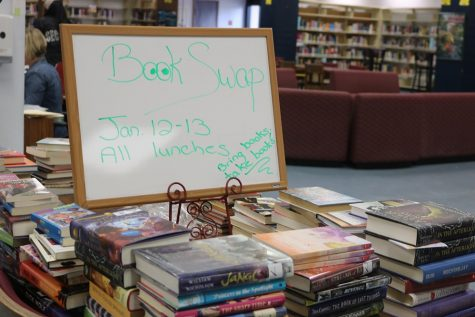Once they have turned in books of their own, students can pick out new ones to take home during lunch on Jan. 12 and 13.