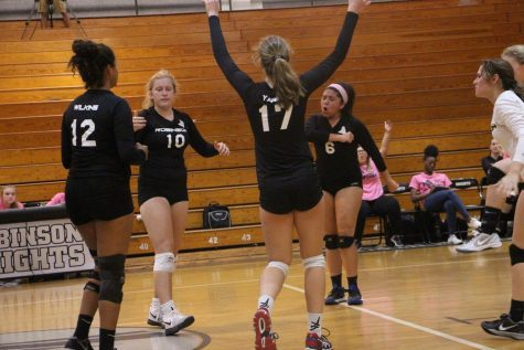 Volleyball team battles for the win on senior night