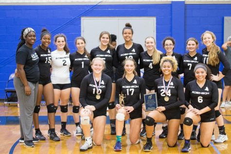 The Lady Knights won the Lady Mustang Varsity Volleyball Invitational this weekend.
