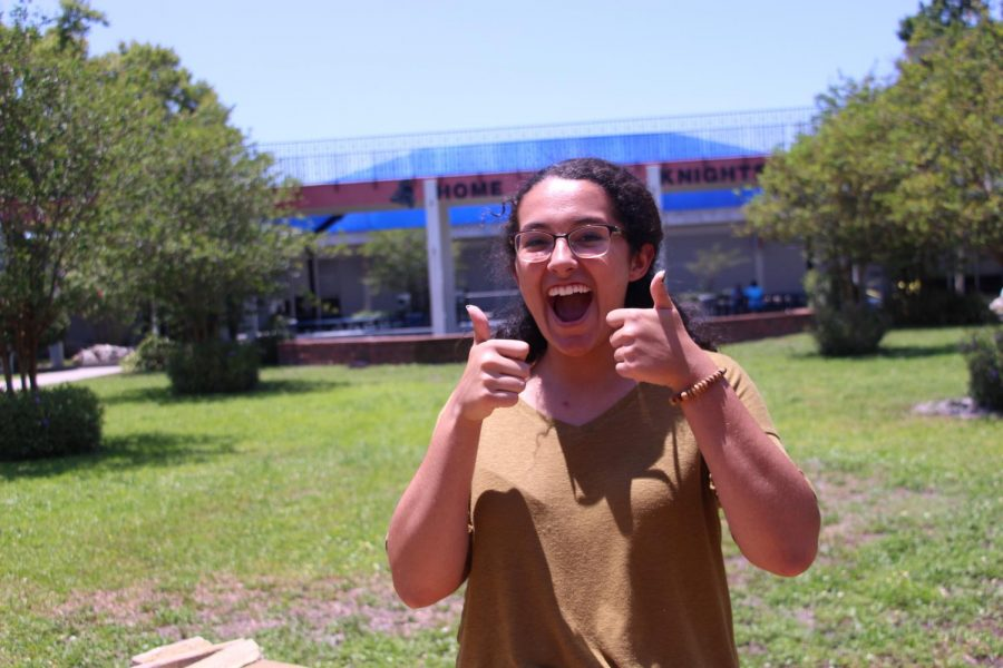 Editor Lillian Martin ('18) reminds readers to never stop smiling.