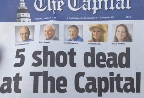 Following the shooting at the newsroom on Thursday, June 28, that left five dead, the Capital Gazette put out a paper the very next day.
