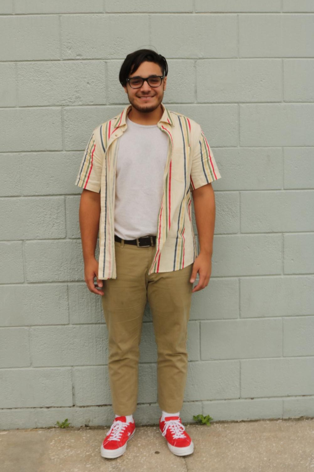 Coordination%3B+many+students+make+sure+their+whole+outfit+pairs+together%2C+socks+and+all.+For+Jorge+Deglado+%28%2720%29%2C+that+meant+matching+his+striped+red+button+down+shirt+with+his+red+shoes%2C+and+dressing+it+up+with+long+slacks+and+a+belt.