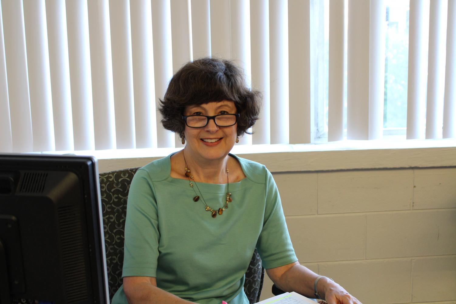 The new English IB teacher, Deborah Van Pelt
