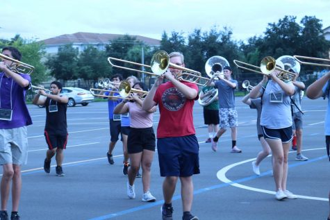 Marching band sets their sights on straight superiors