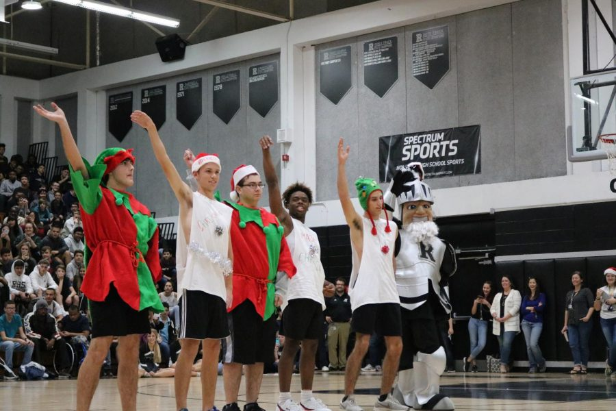 The spirit boys preform their holiday routine to a mash up of Christmas music.