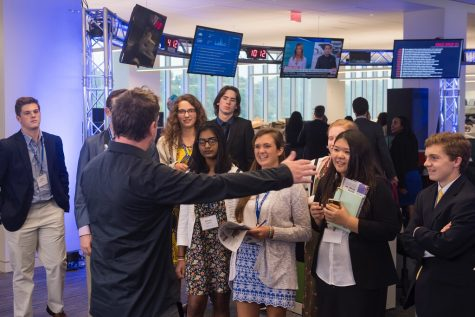 During the conference, we toured the USAtoday headquarters and heard from their top editors.