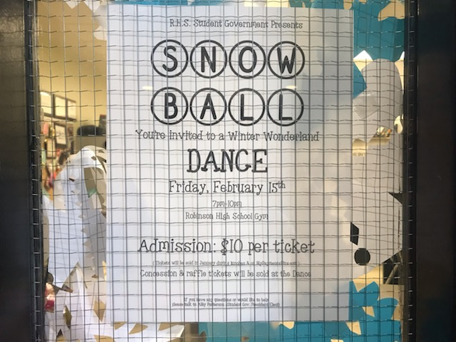 An+ad+for+the+Snowball+dance.