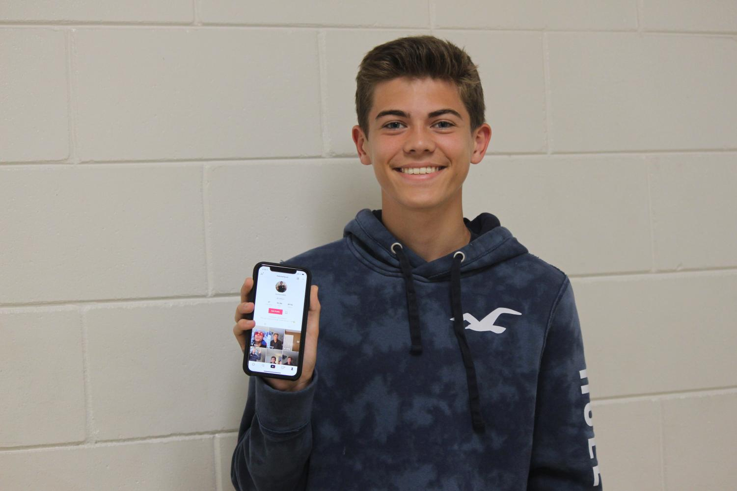 Liam Silk ('22) displays his TikTok profile.
