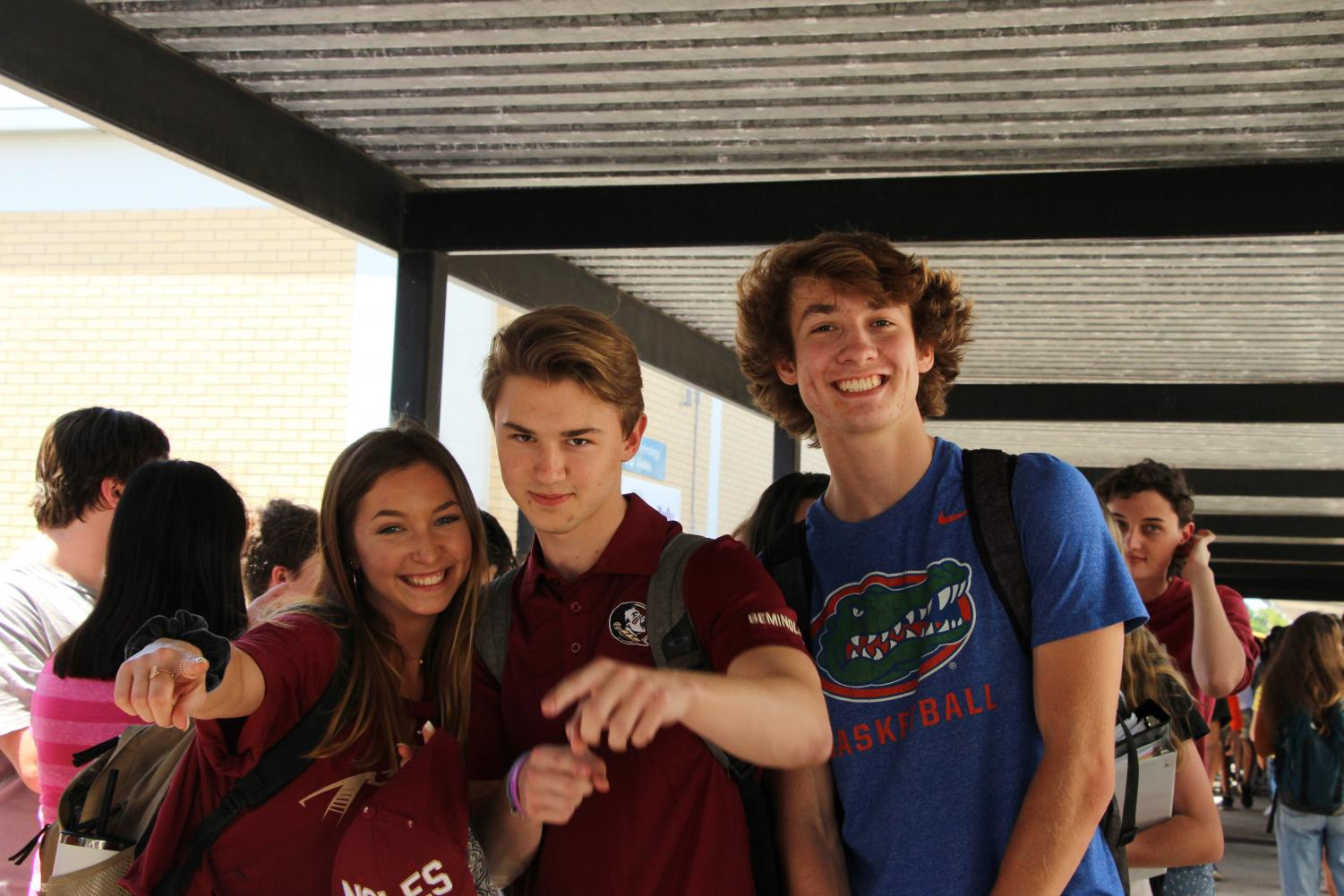 Friends say goodbye as they head to rival schools.