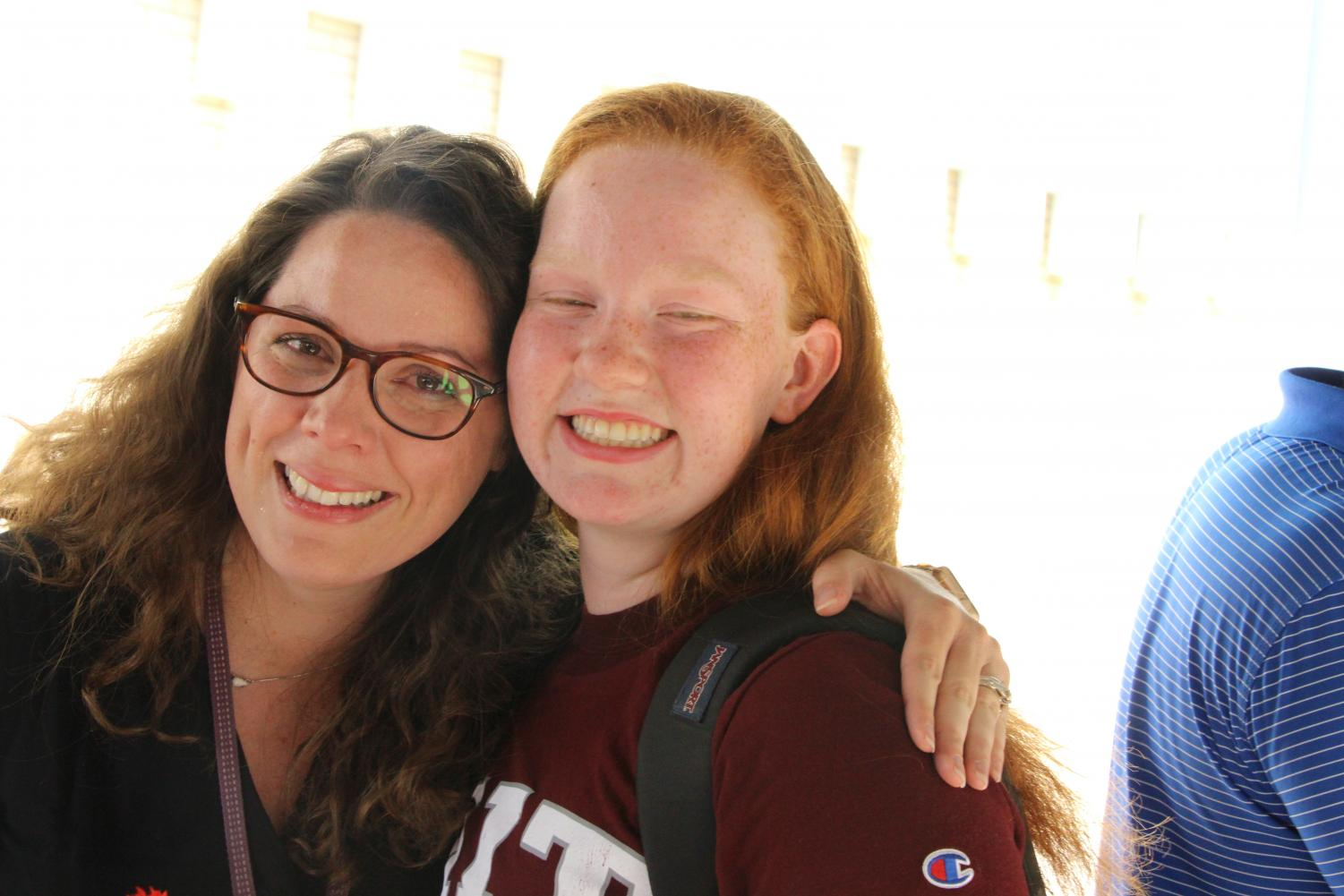 Ms.Loges++and+Carly+Long+shed+tears+and+a+long+hug+as+they+say+goodbye.