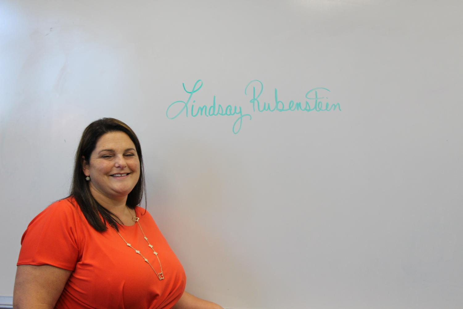 Robinsons new English 1 teacher Lindsay rubenstein.