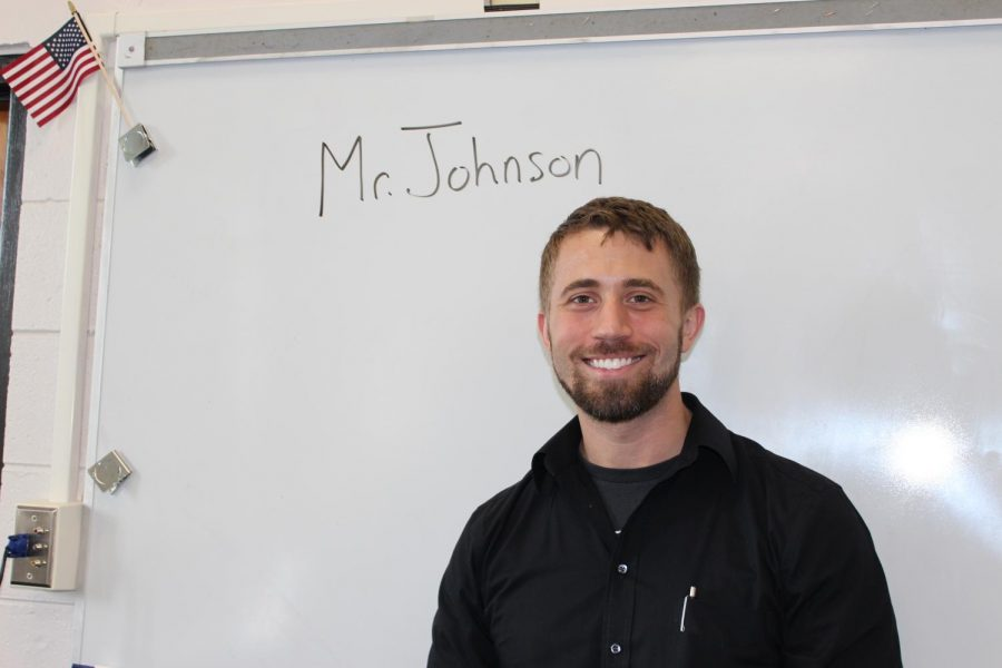 Robinson's new Algebra teacher, Charles Johnson