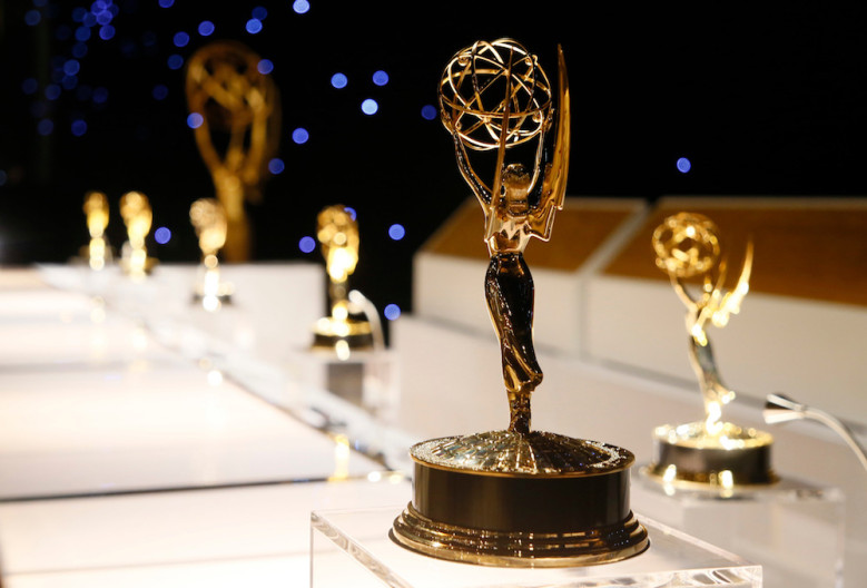 Mandatory Credit: Photo by Invision/AP/REX/Shutterstock (9046769n) A Emmy award statuettes are seen during the 2017 Governors Ball Press Preview at The Los Angeles Convention Center on in Los Angeles, Calif 2017 Governors Ball Press Preview, Los Angeles, USA - 07 Sep 2017