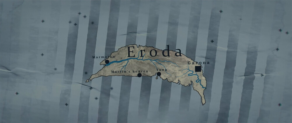 The Visit Eroda page's map of the island