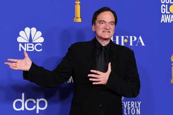 Quentin Tarantino at the 77th Golden Globe Awards, where he won Best Screenplay.