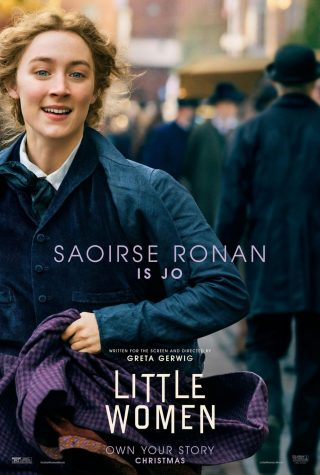 Saoirse Ronan as Jo in one of the Little Women posters.