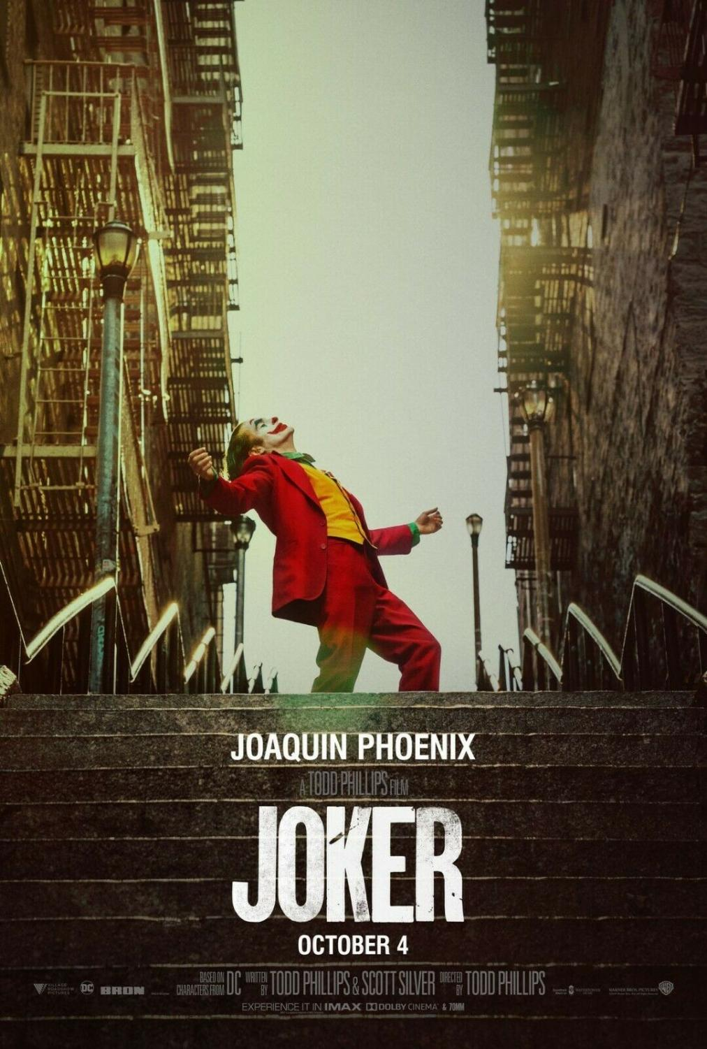 A movie poster for Joker, which has the most nominations of the 2020 Academy Awards.