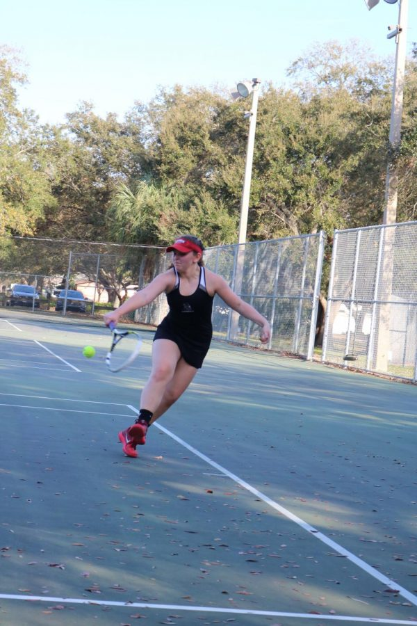 Photo Gallery: Girls tennis home match against Steinbrenner