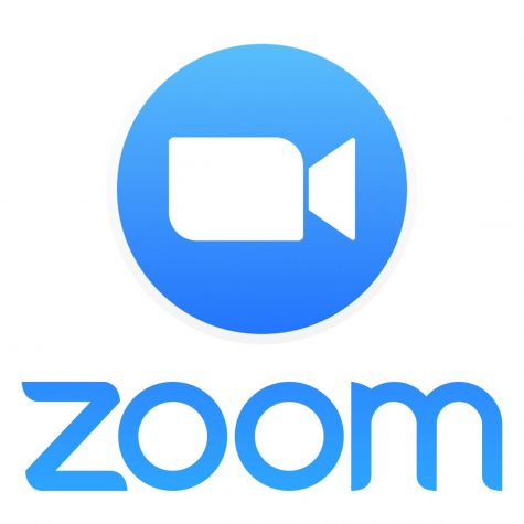 The logo for Zoom, a popular website for online school.
