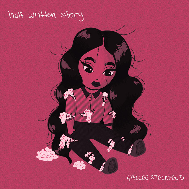The album art for Steinfeld's newest EP Half Written Story.