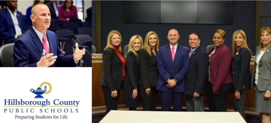 Superintendent Addison Davis with the Hillsborough County School Board in January.